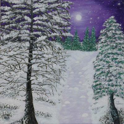 Winter violett, 40*40, 2016