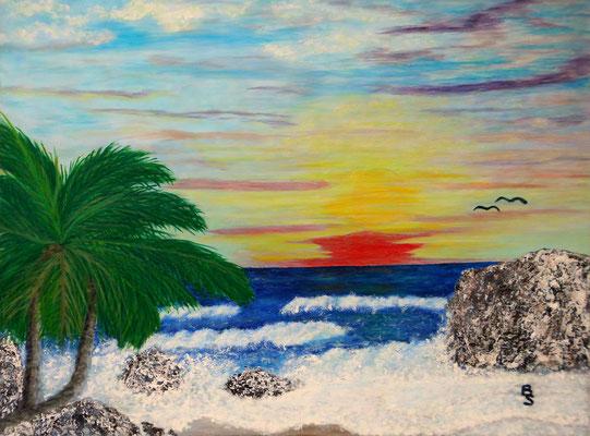 Palme und Meer, 80*60, 2007