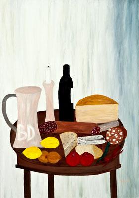 Voller Tisch, Erstversion 2012, 70*100