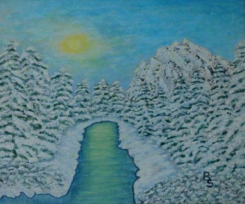 Winter in den Alpen, 60*50, 2016