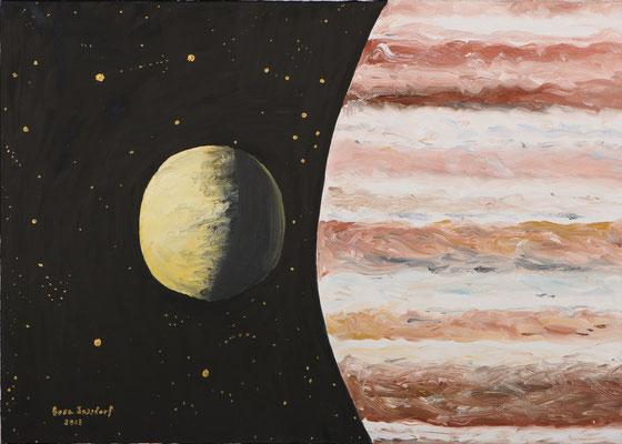 Mond und Jupiter, 70*50, 2013