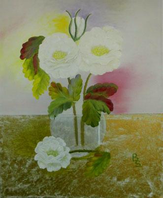 Weiße Rosen, 50*70, 2016