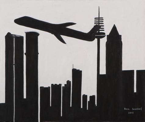 Skyline im Abflug, 60*50, 2013