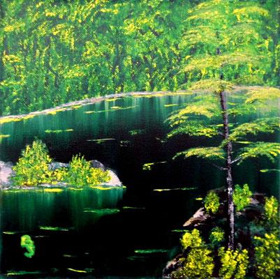 Green lake, 40*40, 2015
