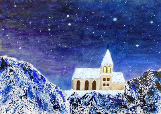 Nacht in den Alpen, 70*50, 2011