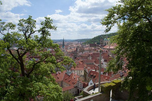 08.05. Prager Burg: Aussicht vom Lobkowicz Palace Café