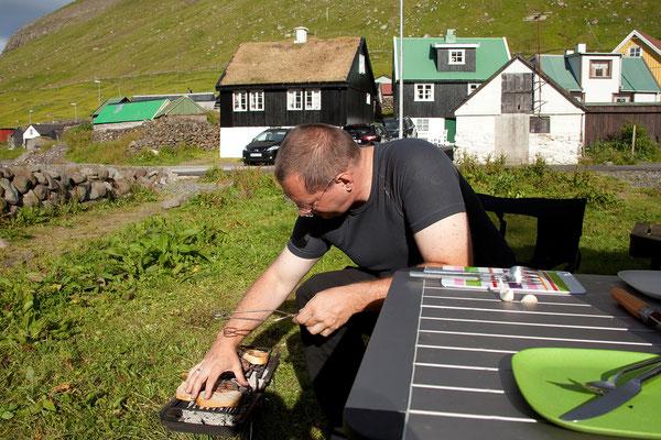 28.7. Färöer Inseln - Eysturoy - Elduvík. Ein schöner Übernachtungsplatz.