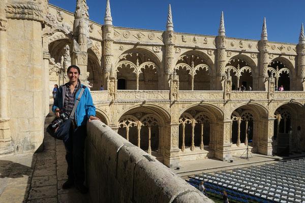 16.09. Mosteiro dos Jerónimos: einige Jahrzehnte später folgte das Obergeschoß mit sichtbaren Renaissance - Einflüssen.