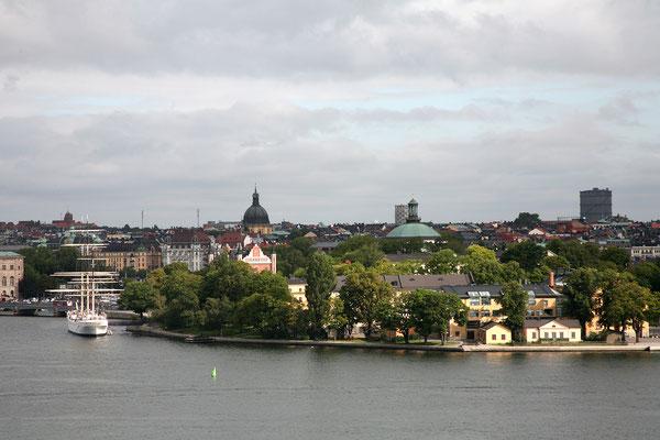 Mäster Mikaels gata, Aussicht auf Skeppsholmen & Af Chapman