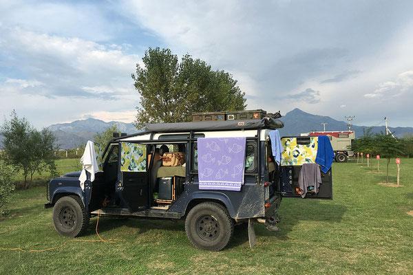 14.9. Wir übernachten im Lake Shkodra Resort, dem mit Abstand besten Platz unserer Reise.
