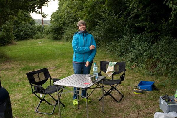 01.09. Wir übernachten auf dem schönen Pheasant Cottage Camping, einige Kilometer außerhalb von Canterbury.