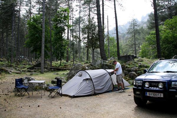 25.5. Restonica Tal: wieder zurück am Camping Tuani