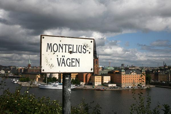 Weiter gehts zum nächsten Gässchen mit Aussicht, dem Montelius Vägen