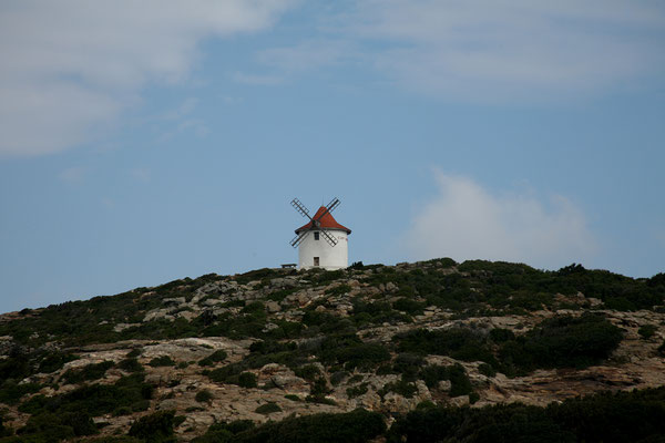 6.6. Heute geht es weiter entlang des Cap Corse: Moulin Mattei
