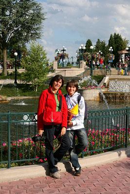 11.06. Disneyland Paris: über die Main Street verlassen wir den Park langsam wieder