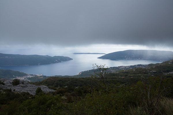 19.9. Orjen Gebirge - Blick auf die Bucht von Kotor