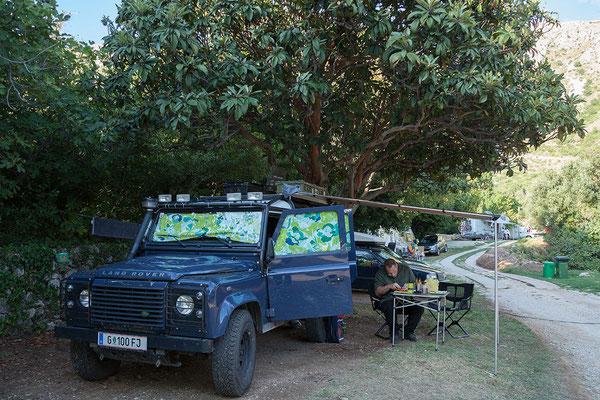 """20.09. Der hübsche kleine Campingplatz """"Camping Kate"""" in Mlini liegt etwa 10 km von Dubrovnik."""