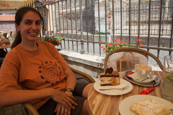 12.06. Sibiu, Nachtisch im Café Wien