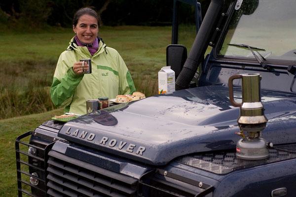 12.09. Frühstück, Runnage Farm, Dartmoor
