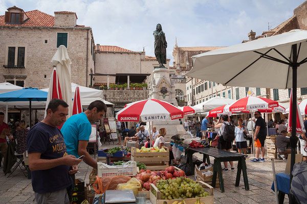 21.09. Dubrovnik - Markt auf der Gundulićeva poljana