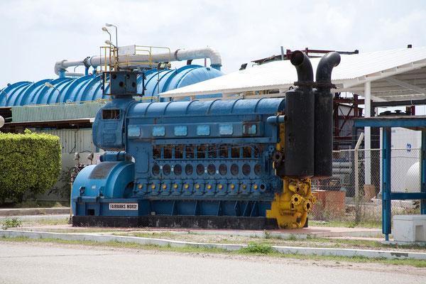 Dieselgenerator nahe Kralendijk