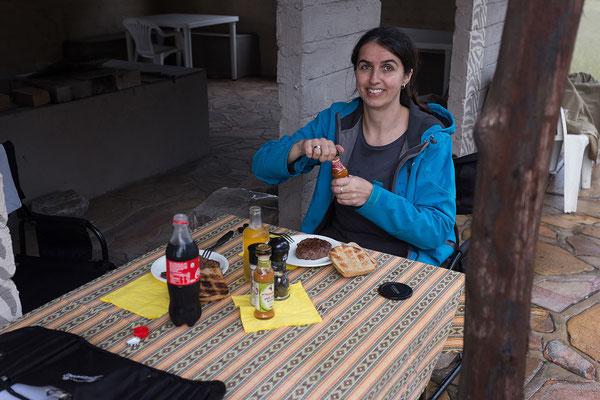 22.4. Maori Camp, heute gibt es Springbock mit Mais und Brot