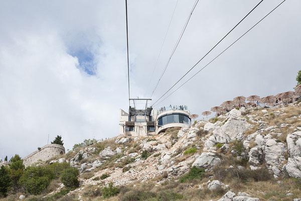 21.09. Dubrovnik - Wir fahren mit der Seilbahn auf den Srđ.