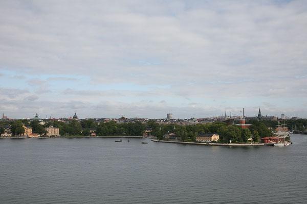 Per Anders Fogelströms Terrass, Aussicht auf Skeppsholmen