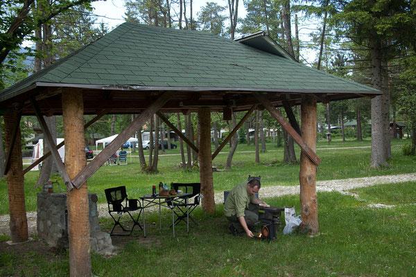Campingplatz Menina - Abendessen