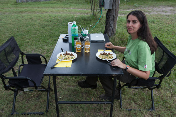 28.4. Kap Kwando, Abendessen