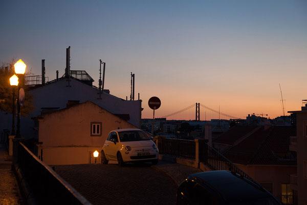 17.09. Abendstimmung mit Blick auf Ponte 25 de Abril