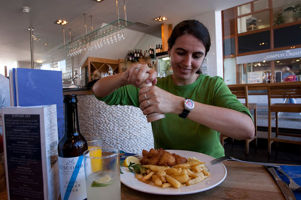 09.09. Falmouth - Fish & Chips bei Rick Stein
