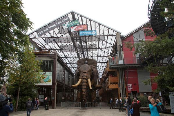 19.09. Machines de l'ìle - Ein Highlight ist die Fahrt mit dem großen Elefanten.