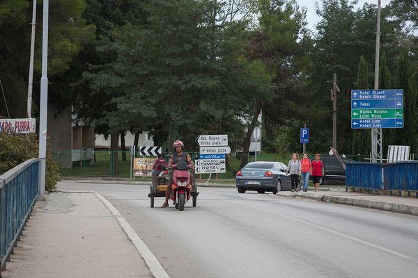 17.9. Unterwegs nach Ulcinj, der südlichsten Stadt Montenegros.