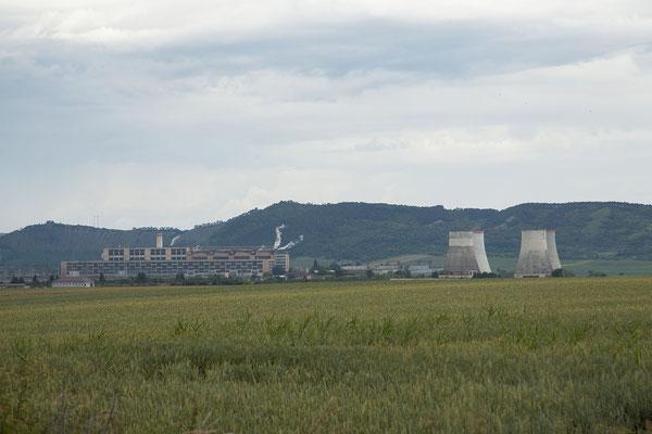 15.6. Unterwegs in Richtung Cluj - Wärmekraftwerk Iernut