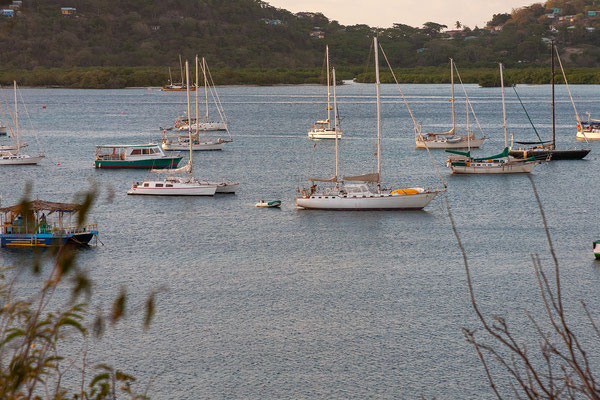 Tyrrel Bay, Carriacou - Blick auf die Mikado of Sark