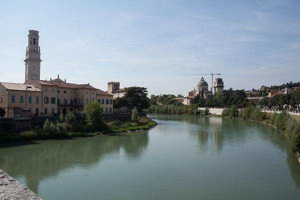 23.09. Verona - Blick vom Ponte Pietra