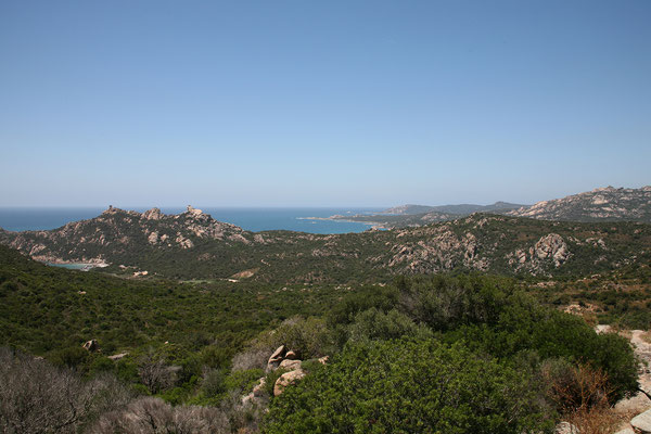 30.5. Weiter gehts entlang der Küste: Blick auf den Rocher du Lion