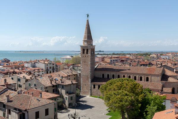 02.05. Aussicht von unserem Hotel auf Grado (Hotel Fonzari)