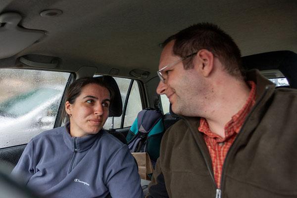 28.5. Bavella Pass: wir verlassen das gemütliche warme Auto nur für ein paar schnelle Fotos und fahren bald weiter ;-)