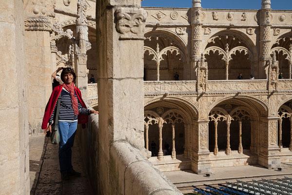 16.09. Mosteiro dos Jerónimos: das Untergeschoß des Kreuzgangs wurde 1517 im manuelinischen Stil errichtet.
