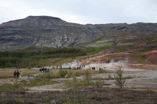 14.8. Stopp am Geothermalfeld beim Geysir