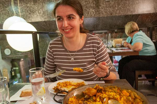 04.04. Abendessen in Valencia: Paella - was sonst?!