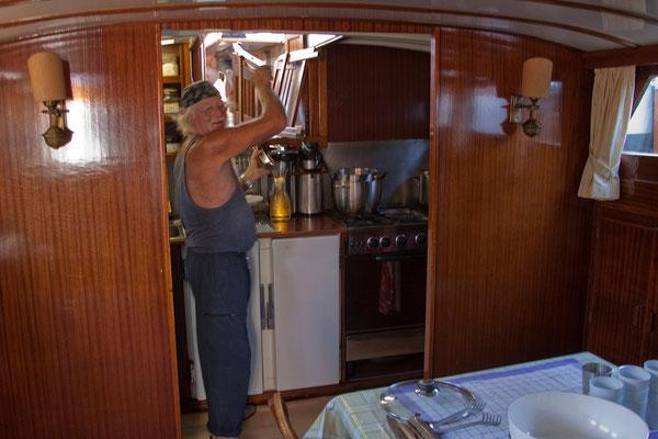 11.09. Rüdiger zauberte in seiner winzigen Küche jeden Tag drei ausgezeichnete Mahlzeiten.