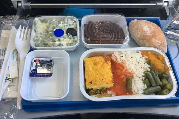 18.05. Windhoek - Johannesburg: Während das Essen der Air Namibia gar nicht schlecht war ...