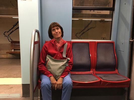 """17.09. Mit der U-Bahn gehts zurück """"nach Hause"""""""