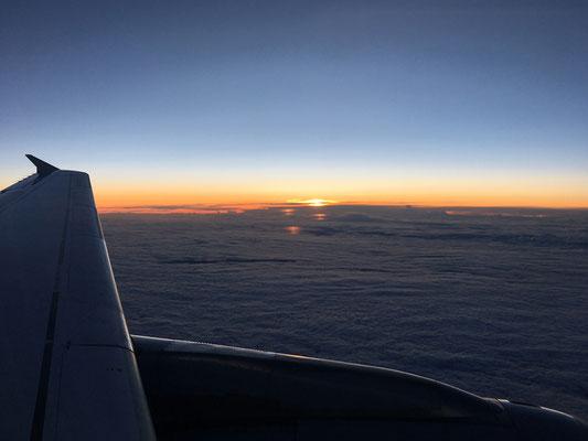 18.09. Kurz nach 16:00 heben wir ab und fliegen über Frankfurt zurück nach Graz.