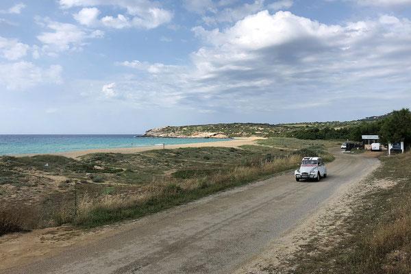 30.05. Küste beim Camping de la Plage in Algajola