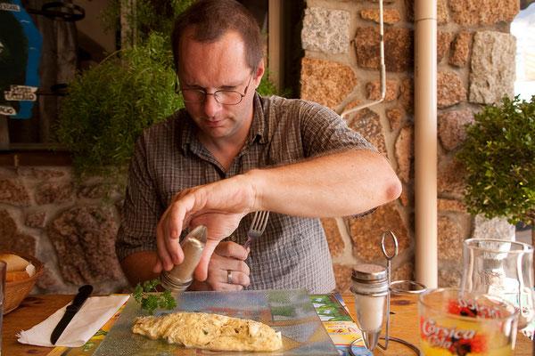 07.09. Col de Mercujo: Omelettes au Brocciu