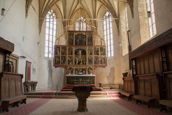 15.6. Biertan - Als Sitz des evangelischen Bischofs von Siebenbürgen spielte der Sakralbau eine wichtige Rolle und wurde aufwendig ausgestattet.